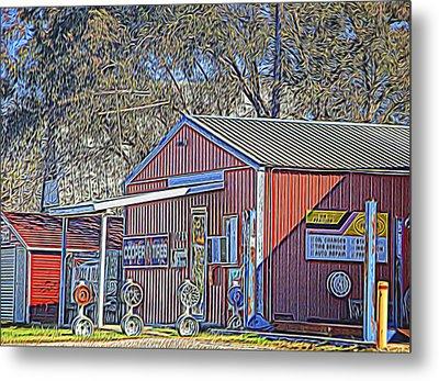 Wheel Sales Barn Metal Print