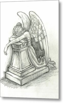 When Angels Weep 2 Metal Print by Lina Zolotushko