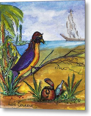When Birds Of Paradise Go Bad Metal Print by Dale Bernard