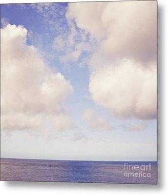 When Clouds Meet The Sea Metal Print by Lyn Randle