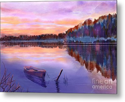 When Evening Falls  Metal Print by Joan A Hamilton