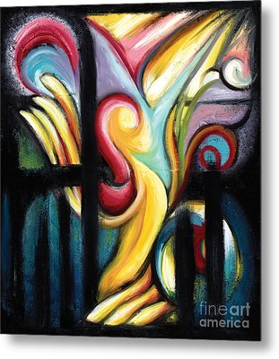 Metal Print featuring the painting When Freedom Comes by Tiffany Davis-Rustam