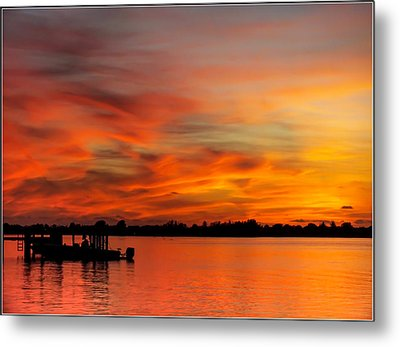 When God Paints Metal Print by Karen Wiles