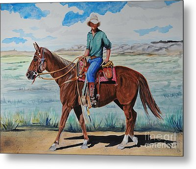 When I Was Young Metal Print by John W Walker
