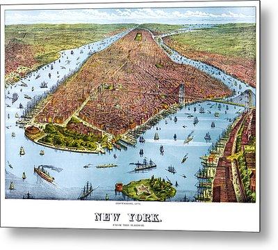 When New York Was Flat Metal Print by Georgia Fowler
