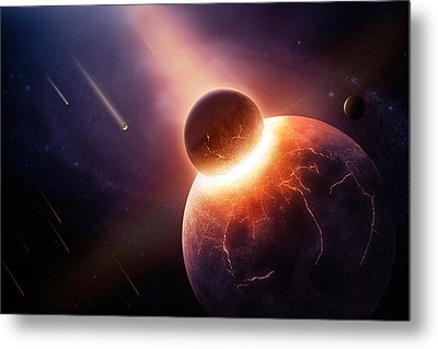 When Planets Collide Metal Print