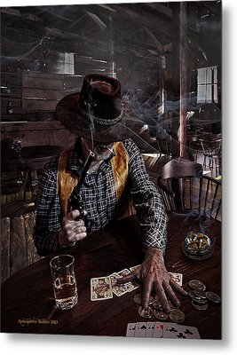 When Smoking In Bars Was Still Legal Metal Print by Aleksander Rotner