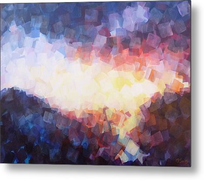 When The Sun Falls To The Sea Metal Print by Charles Smith