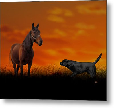 Metal Print featuring the photograph When We Met by Sami Martin