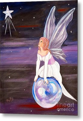 Metal Print featuring the painting When You Dream by Phyllis Kaltenbach