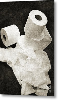 Where Is My Spare Roll Bw V1 Metal Print by Andee Design
