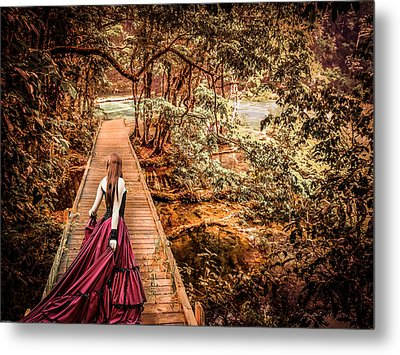 Where Is The Bridge Going? Metal Print by Catherine Arnas
