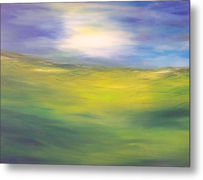 Where Land Sea And Sky Meet  Sun In My Eyes Metal Print
