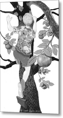 Metal Print featuring the digital art Where The Best Apples Are by Carol Jacobs