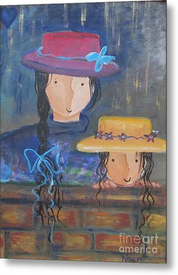 Metal Print featuring the painting Where The Heart Is. by Nereida Rodriguez