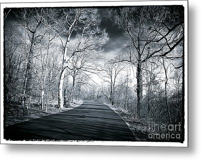 Where The Road Leads Metal Print by John Rizzuto