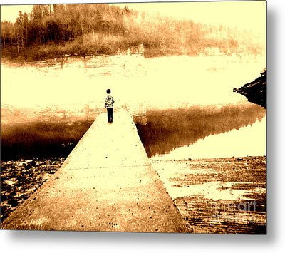 Where The Sidewalk Ends Metal Print by Amy Sorrell