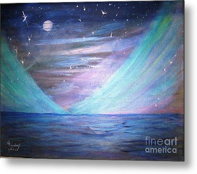 Where The Sky Meets The Sea Metal Print by Betty and Kathy Engdorf and Bosarge