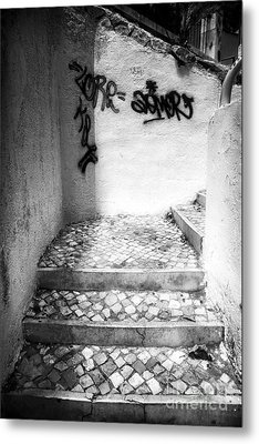Where The Stairs May Lead Metal Print by John Rizzuto