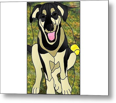 Where's The Ball Metal Print by Merrie Giles