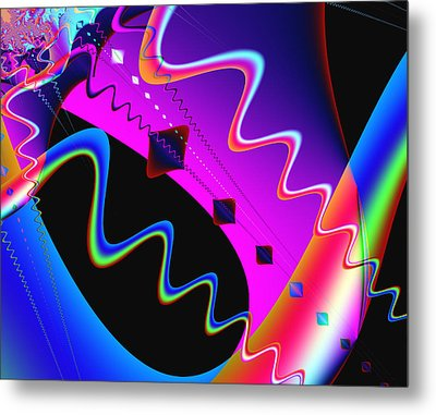 Where's The Party Metal Print by Wendy J St Christopher
