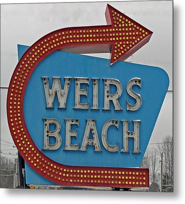 Where's Weirs? Metal Print by Barbara McDevitt