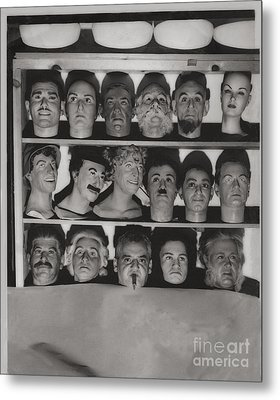 Which Is The Real Ventriloquist Head - Hollywood 1951 Metal Print