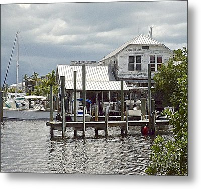 Whiddens Sea Food Market Metal Print