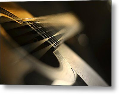 While My Guitar Gently Weeps Metal Print by Laura Fasulo