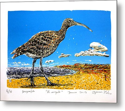 Whimbrel Metal Print by Javier Molina