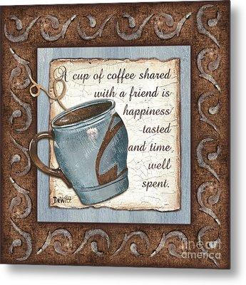Whimsical Coffee 2 Metal Print by Debbie DeWitt