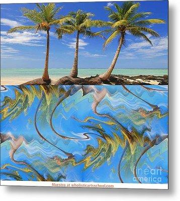 Whimsical Tropics Metal Print by PainterArtist FIN