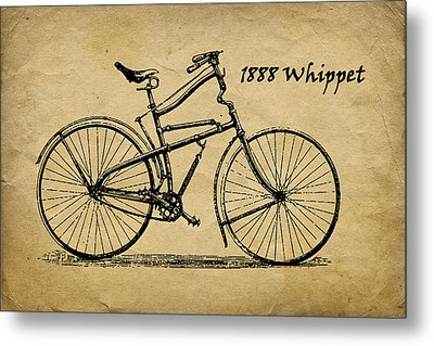 Whippet Bicycle Metal Print by Tom Mc Nemar