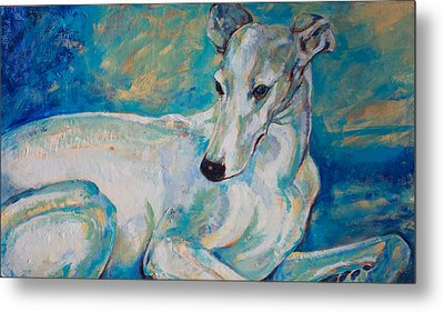 Whippet-effects Of Gravity 4 Metal Print by Derrick Higgins