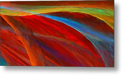 Whirled Colors Metal Print by Lourry Legarde