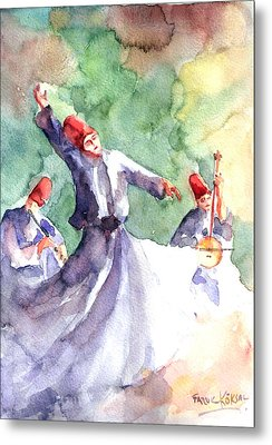 Whirling Dervishes Metal Print by Faruk Koksal