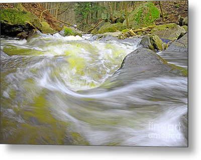 Whirlpool In Forest Metal Print by Charline Xia