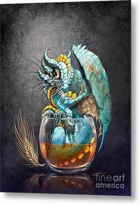 Whiskey Dragon Metal Print by Stanley Morrison