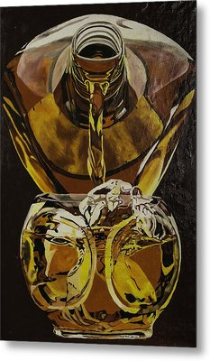 Whiskey Pour Metal Print