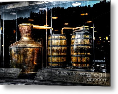 Whiskey Still On Main Street Metal Print