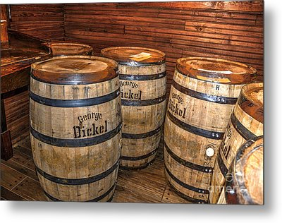 Whisky Barrels Metal Print