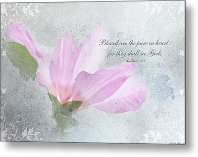 Whisper To Me With Verse Metal Print by Debbie Portwood