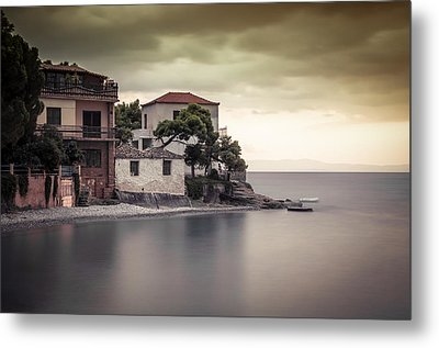 Whispers Of Autumn On Top On The Sea Metal Print by Stavros Argyropoulos