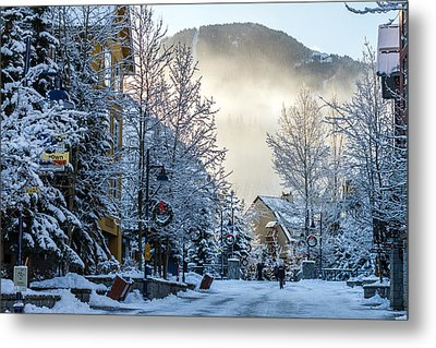 Whistler Village On A Sunny Winter Day Metal Print by Pierre Leclerc Photography