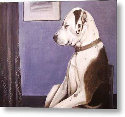 Whistler's Mutt-er Metal Print by Laura Aceto