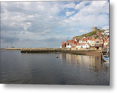 Metal Print featuring the photograph Whitby Abbey N.e Yorkshire by Jean Walker