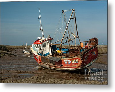 Whitby Crest At Brancaster Staithe Metal Print by John Edwards