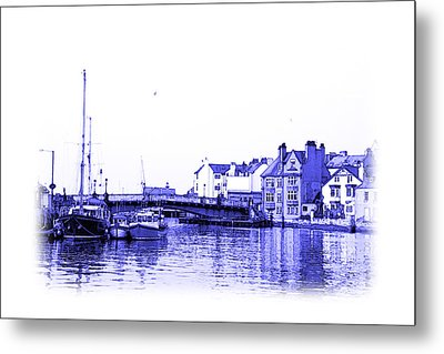 Whitby Harbor Metal Print by Jane McIlroy