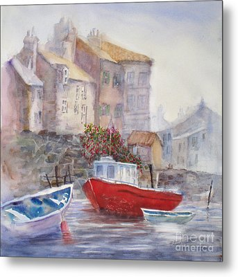 Whitby Harbour Metal Print by Mohamed Hirji