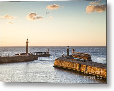Whitby Harbour North Yorkshire England Metal Print